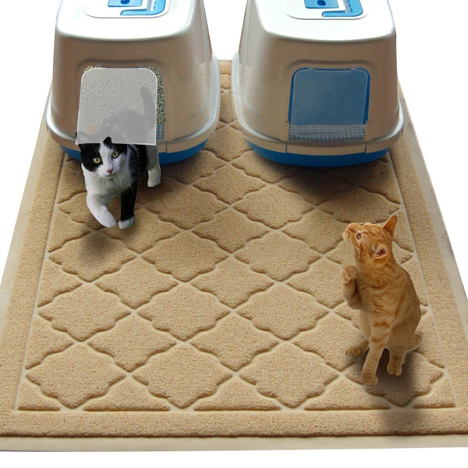 Non Toxic JUMBO Size Cat Litter Mat (47 x 36 in) Extra