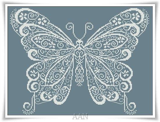Cross Stitch Kit Butterflies art 197