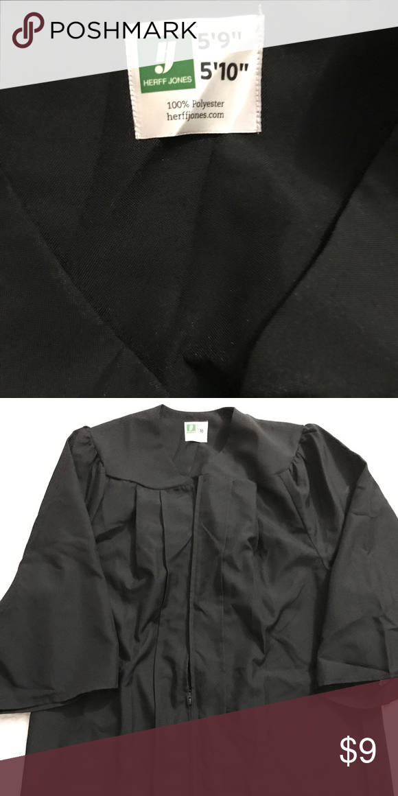 Herff Jones Black High Graduation Gown | Gowns, Customer support and ...