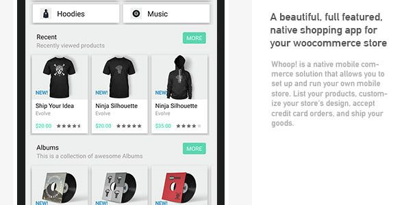 Whoop! Android woocommerce app | Codecanyon collections | Mobile app