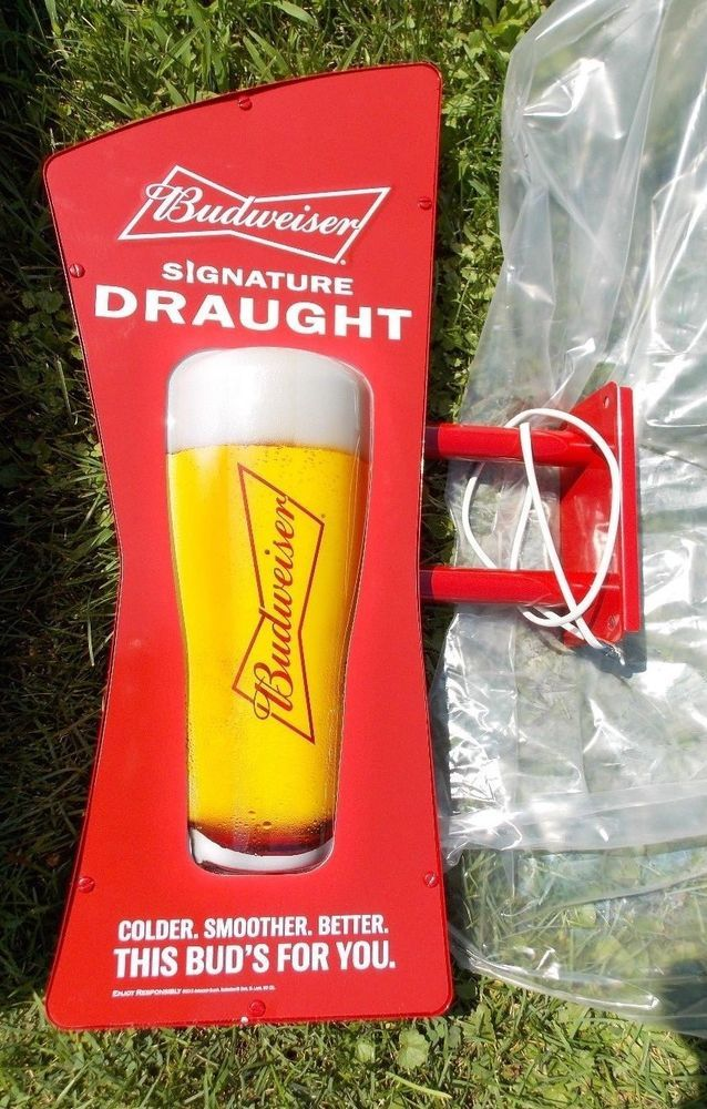 Budweiser Bud Signature Draught Fathead Pub Sign New In