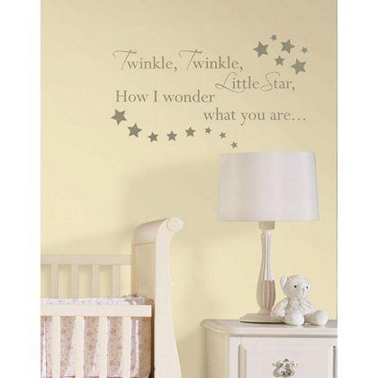 fine decor words - twinkle twinkle wallpops wall stickers at