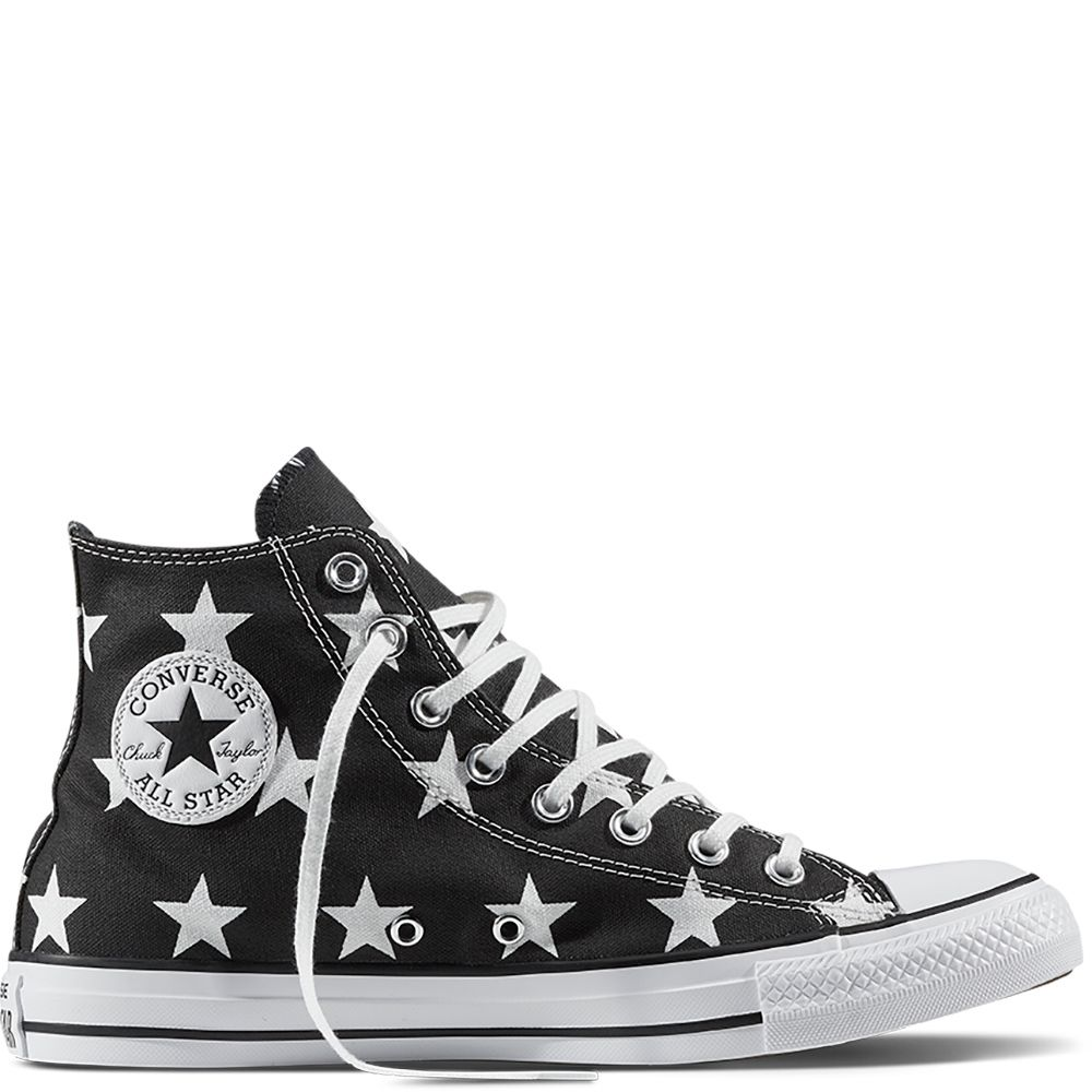 Chuck Taylor All Star Little Star Print Zwart/Wit/Wit black ...