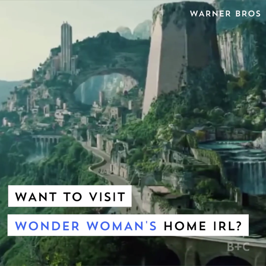 You can visit the real home of Wonder Woman. Watch this travel video to learn about the Greek town the film was shot in, then go visit it.
