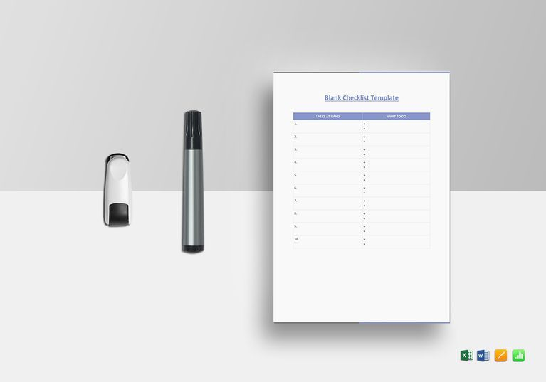Blank Checklist Template | Pinterest | File size, Commercial ...