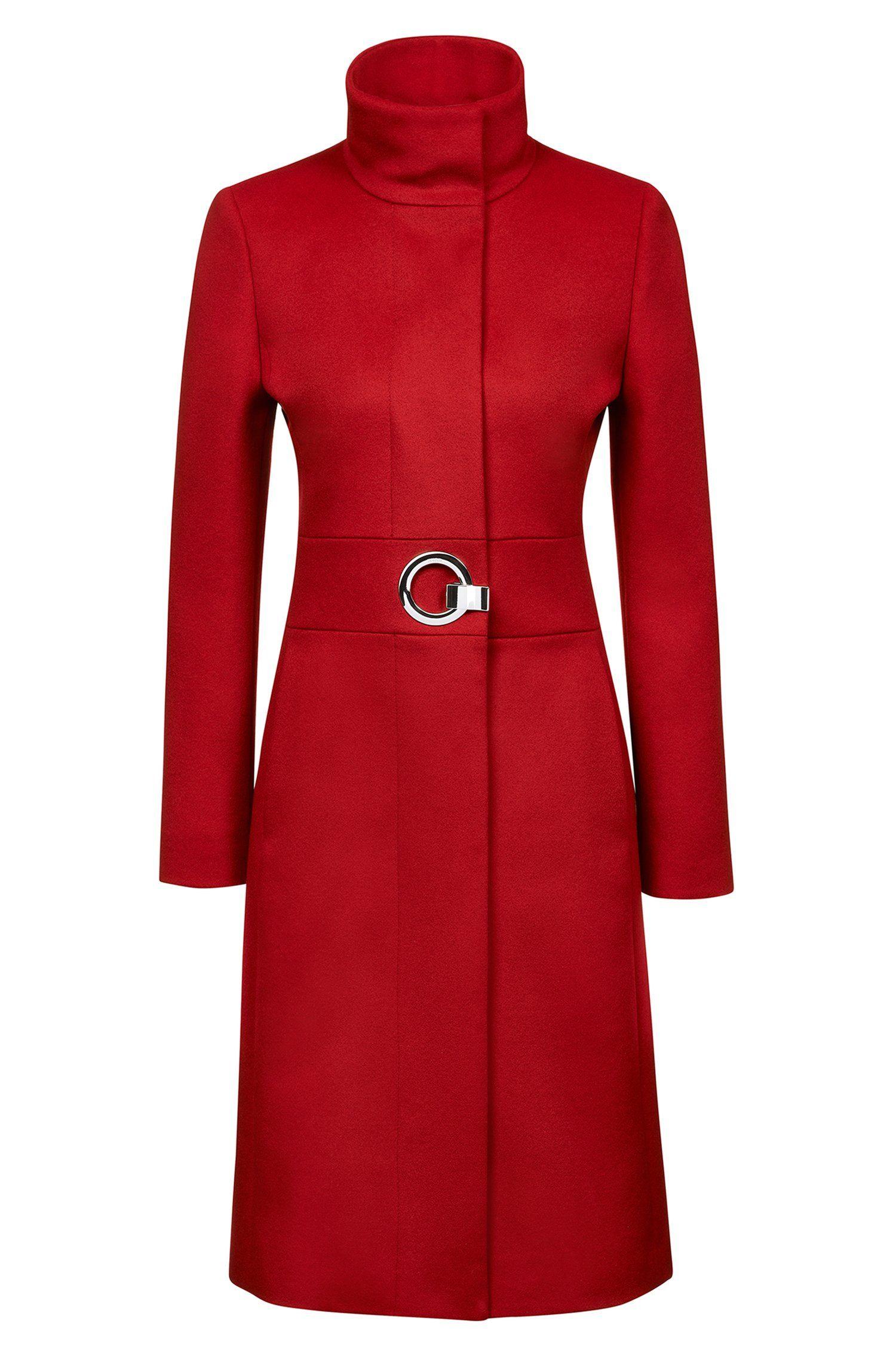 8ca0fa0efb9 HUGO - Regular-fit coat in a virgin wool blend
