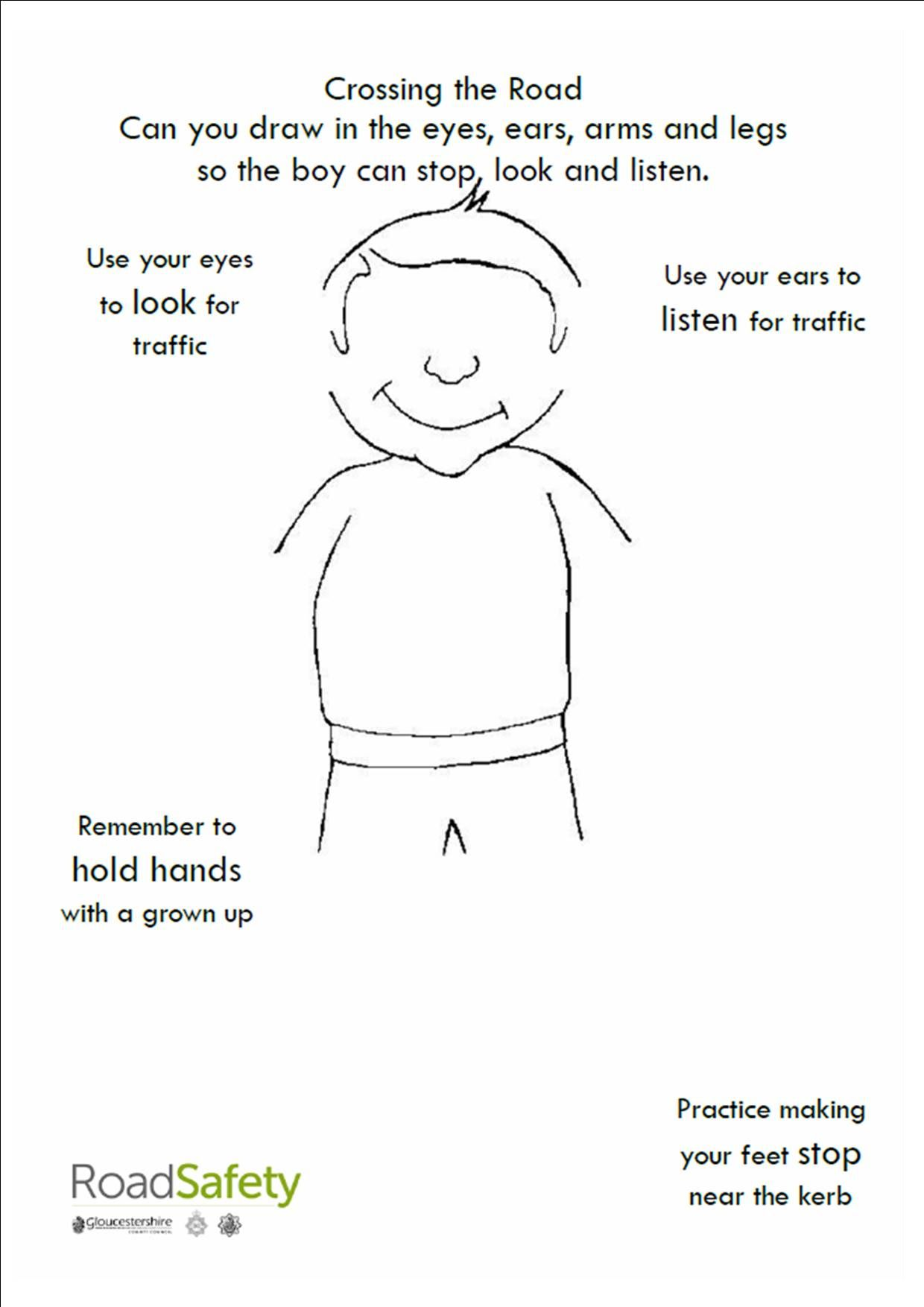 traffic safety use crosswalks worksheets safety and safety week