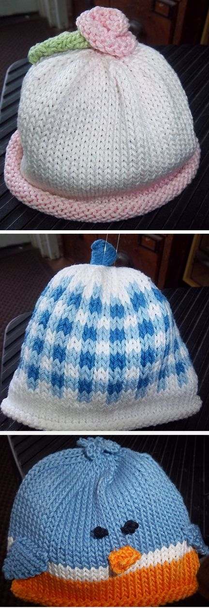 Free Knitting Patterns for Baby Hats | warped and kneedled ...