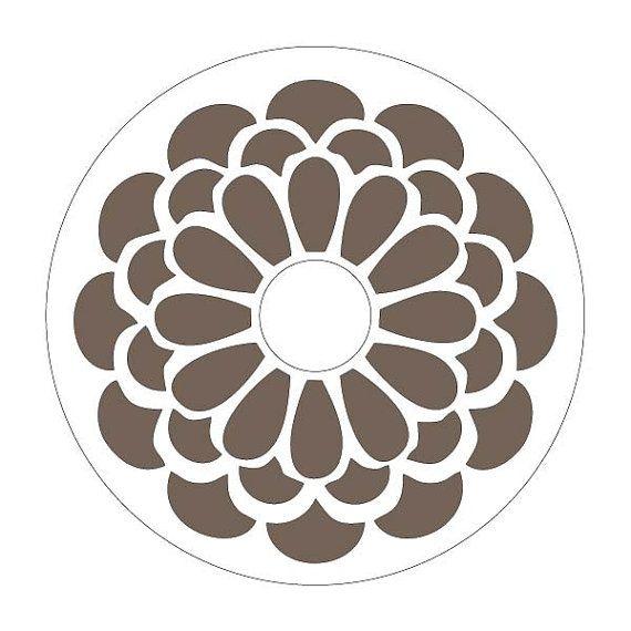 Cake Pattern Stencils : Flower stencil- Round Cake stencil via Etsy ??????? ...