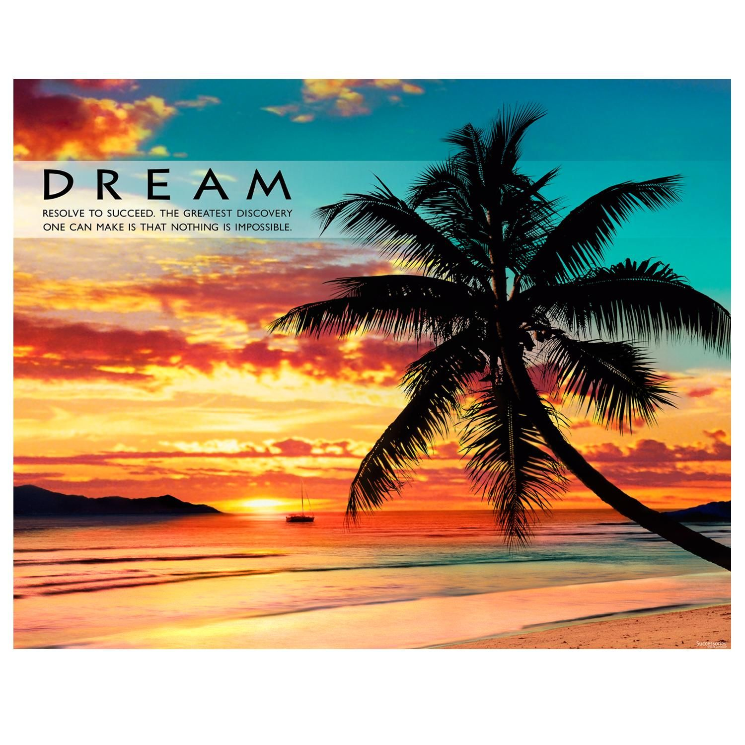 Motivational quotes dream quotes dream big quotes action quotes - Dream Beach Unframed Motivational Poster Live Your Dream Quotesposter