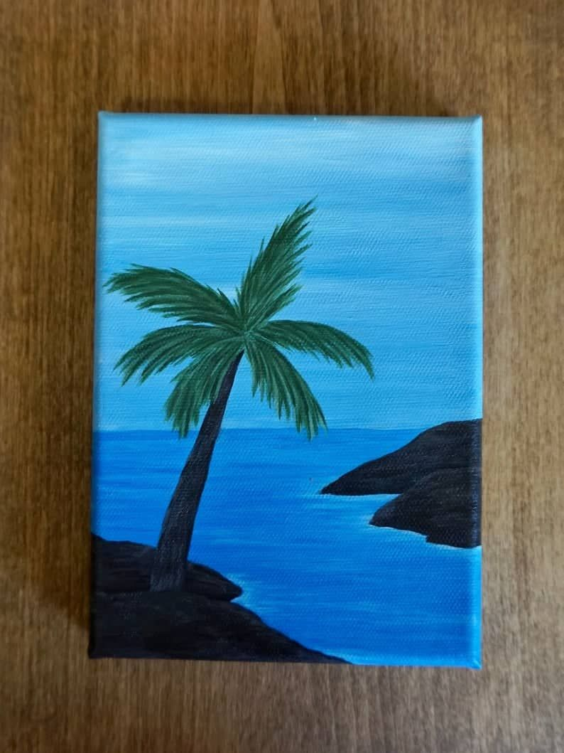 30 Summer Acrylic Painting Ideas For Beginners In 2020 Small