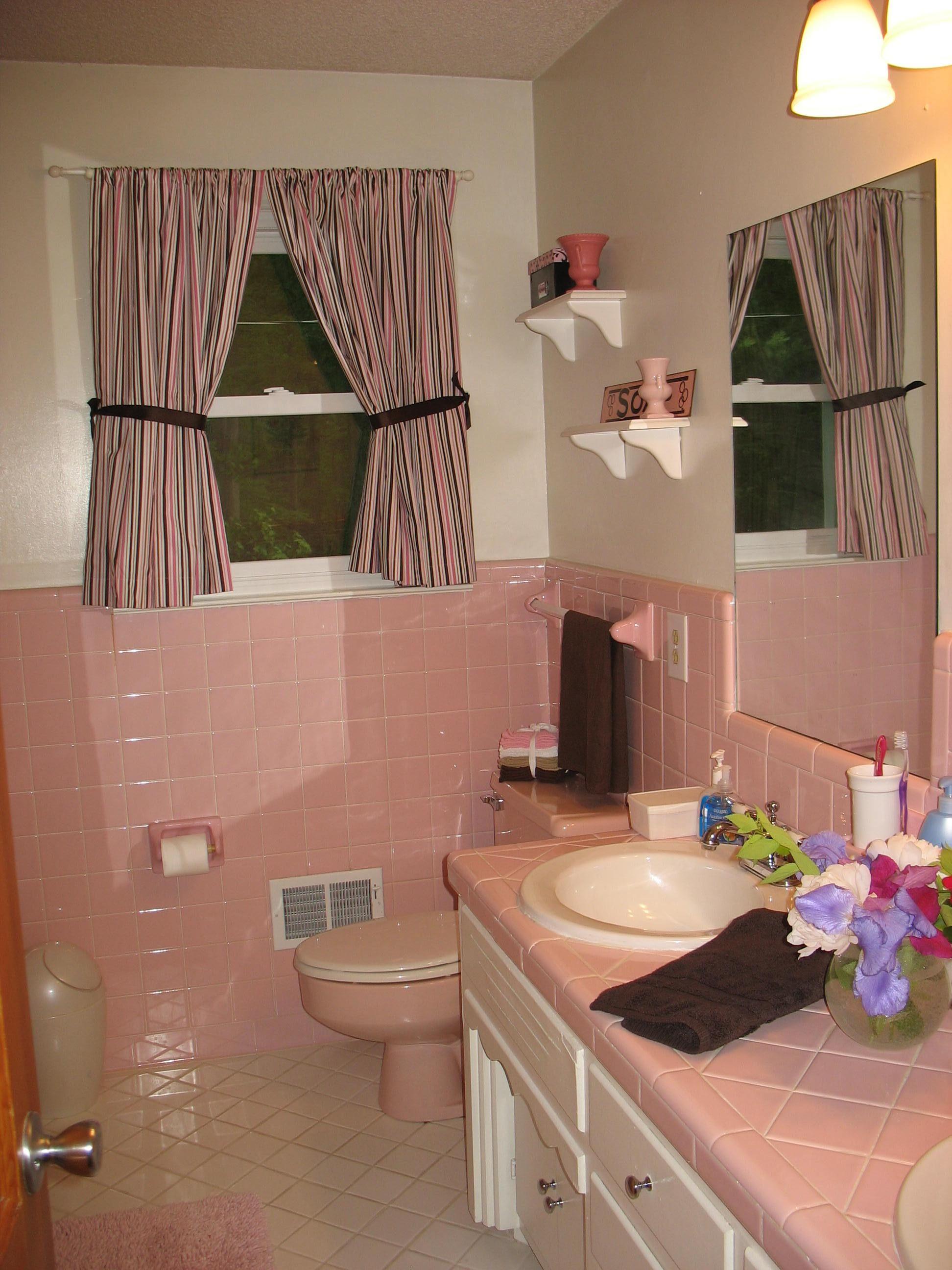 Pink Brown Bathroom All Mine Cheap Bathroom Remodel Brown