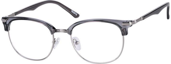 Gray Browline Glasses 7810712 Zenni Optical Eyeglasses