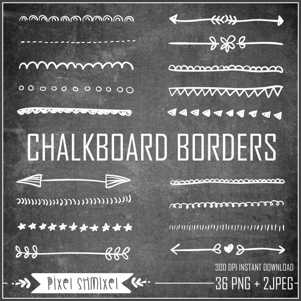 Chalkboard Background With Border Borders Clipart