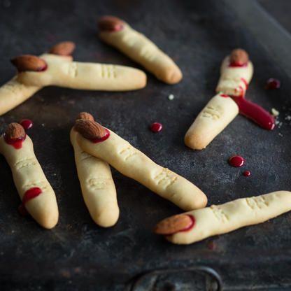 Knusprige Hexenfinger - Halloweenkekse selber backen