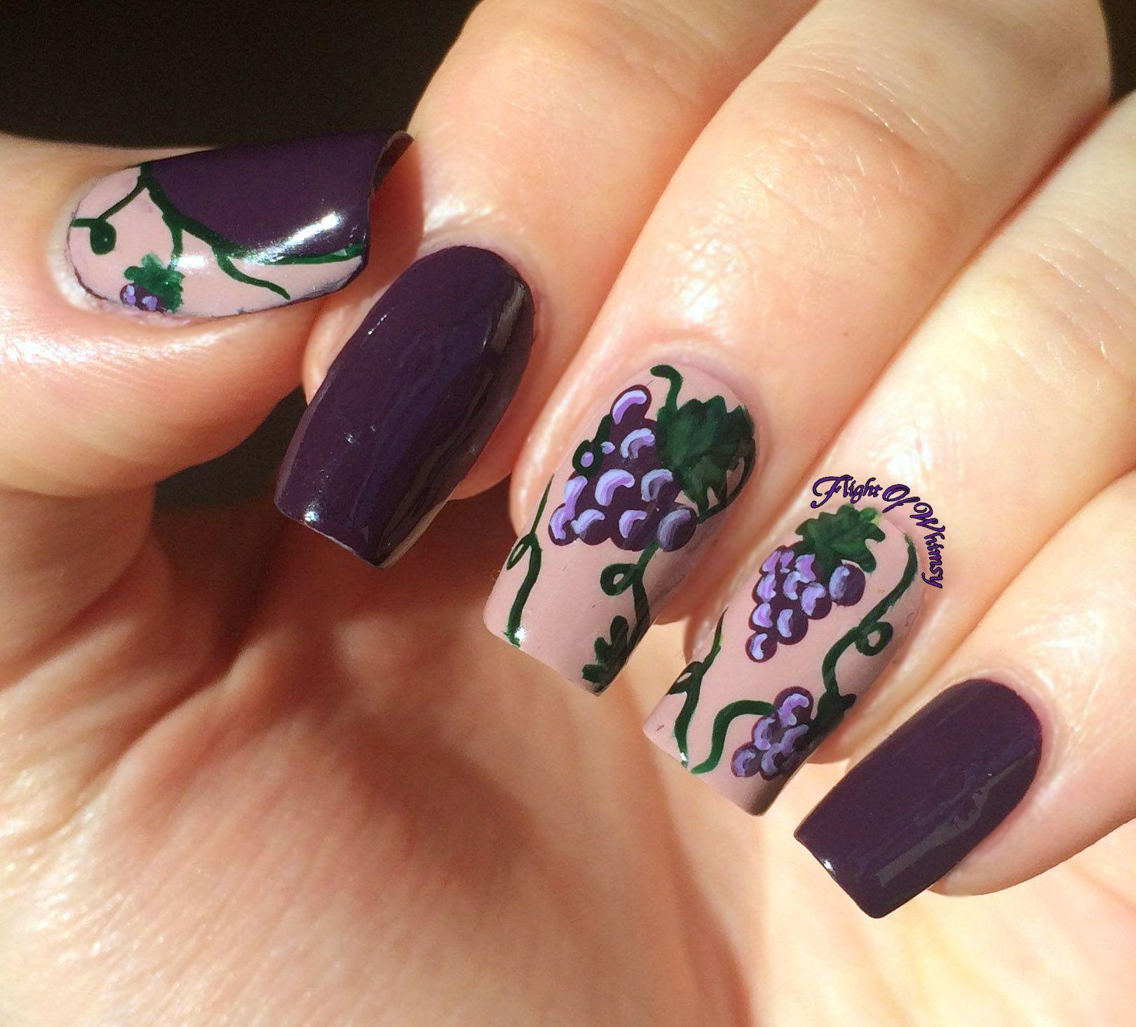 Wunderbar Nailart Bilder Beste Wahl Grapes Nail Art