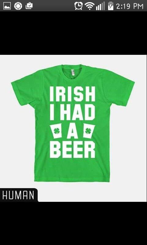 Irish t-shirt about beer