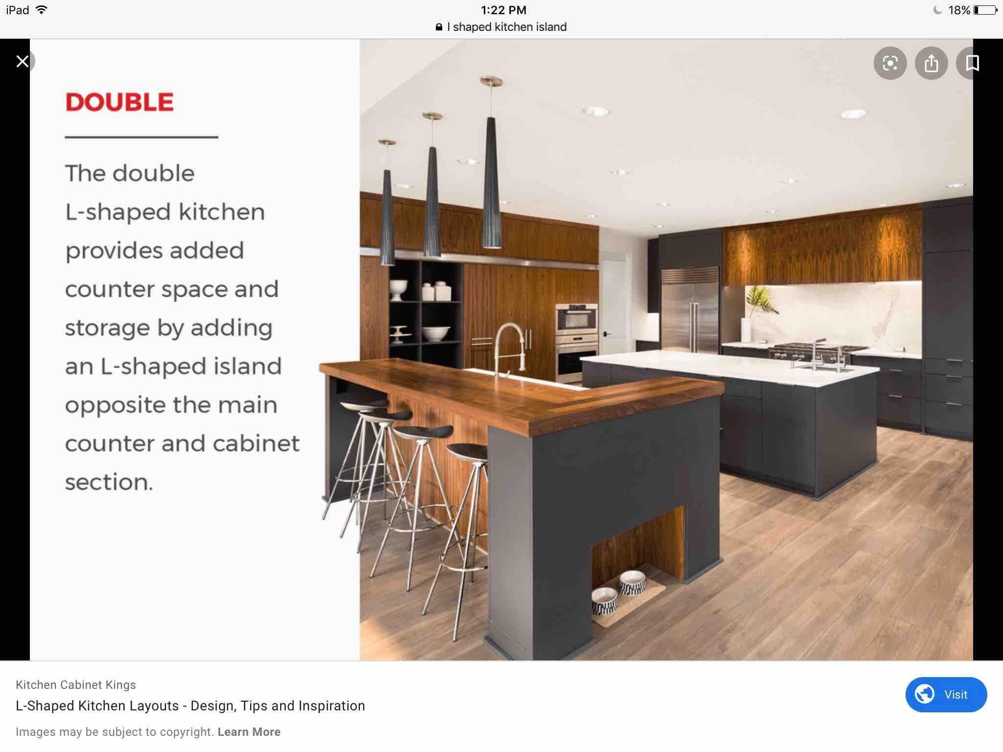 like the wood, maybe a little dark   L shaped kitchen, Kitchen ...