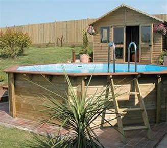 Marvelous Above Ground Swimming Pools | Above Ground Swimming Pools Octagonal Above  Ground Premium Wooden Pool