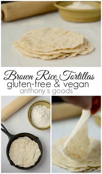Brown Rice Flour Tortillas in 2020 Flour tortillas, Rice