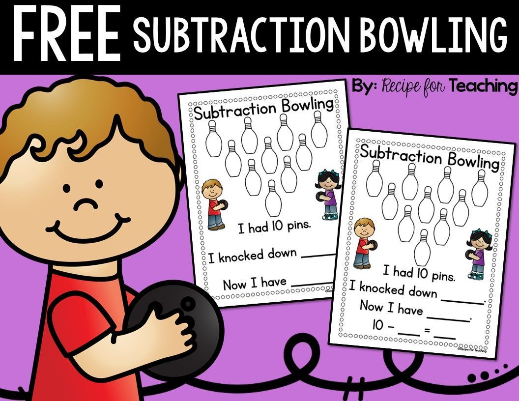 Subtraction Bowling With A Freebie