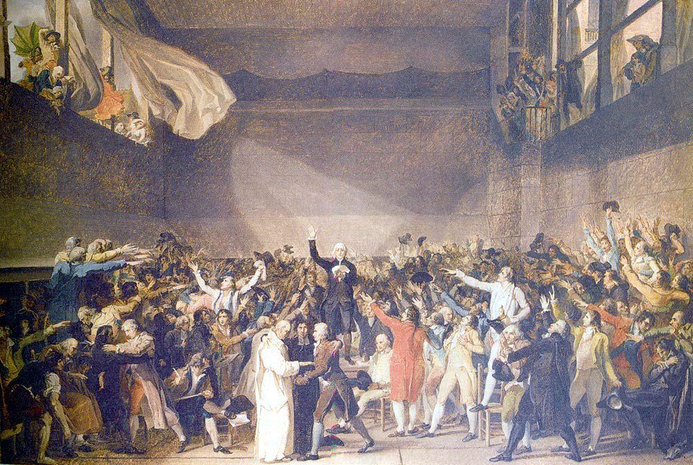 Jacques Louis David Tennis Court Oath French Revolution Revolution Teaching