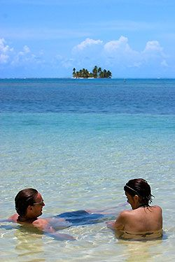 The Pelican Beach Resort, South Water Caye, Belize. South Water Caye Marine Reserve is the largest marine reserve in the Stann Creek district of Belize. It was established in 1996 and covers 47,702 hectares of mangrove and coastal ecosystems.