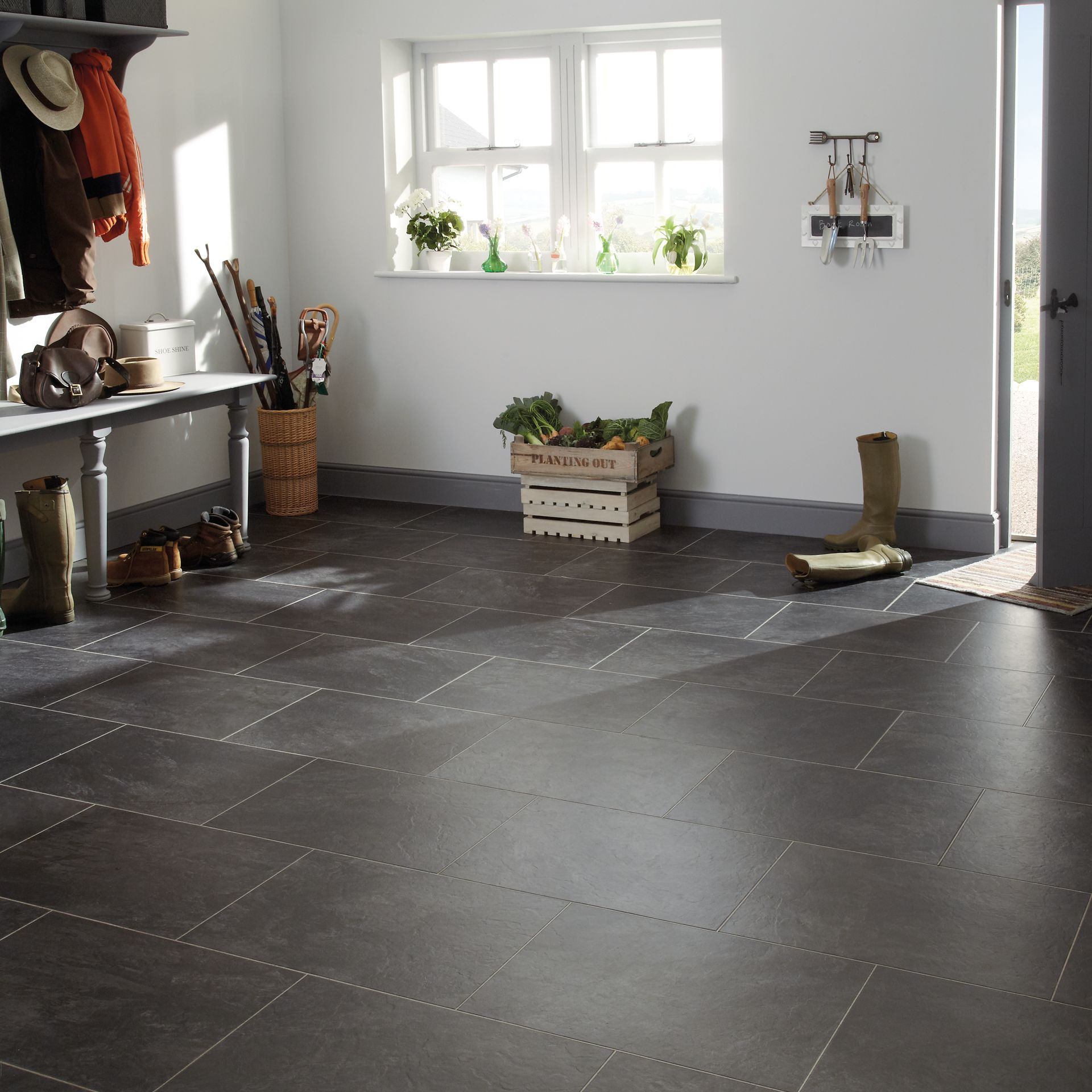 Stone effect vinyl flooring tiles downstairs bathroom pinterest stone effect vinyl flooring tiles dailygadgetfo Gallery
