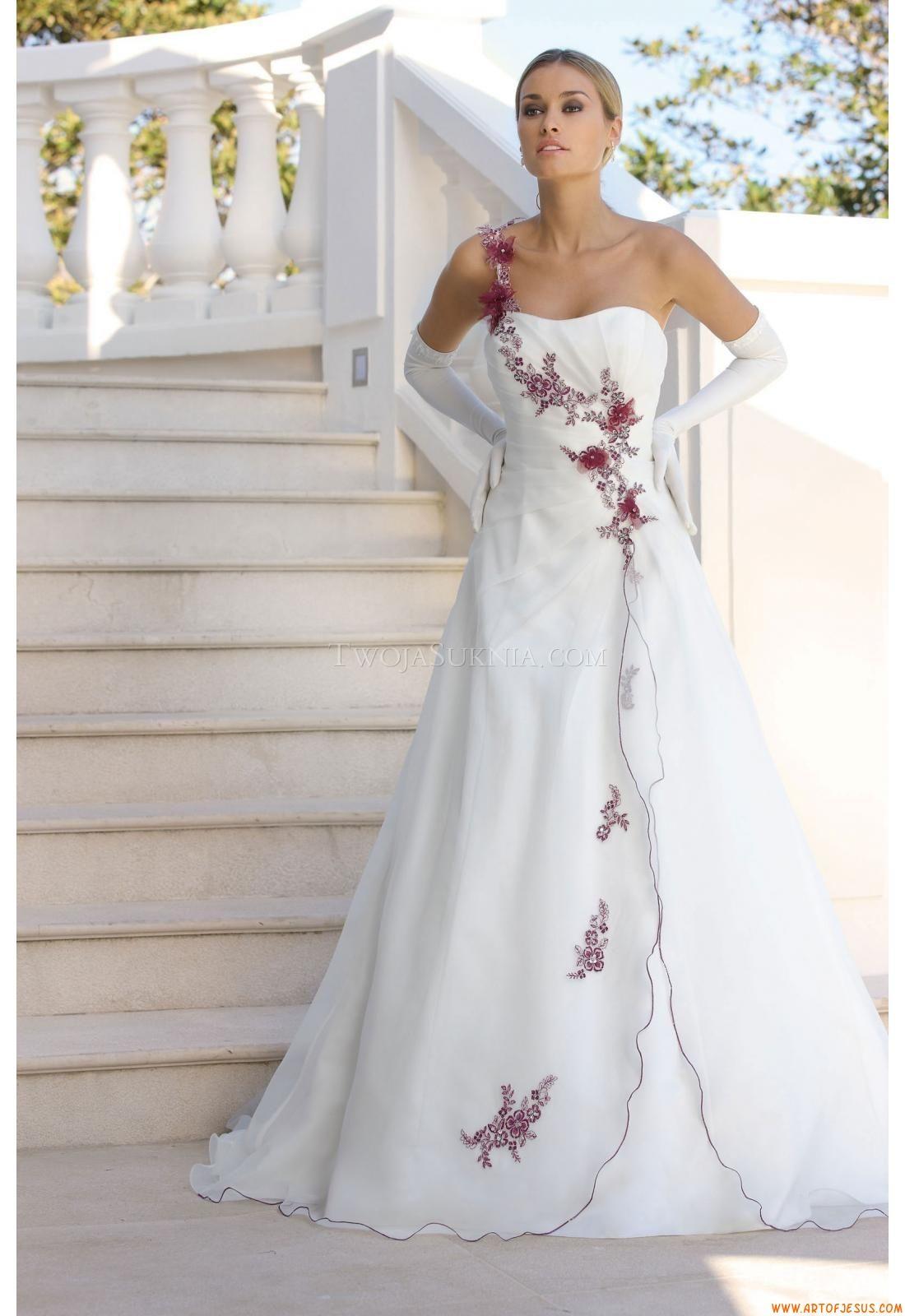 Glamouröse Schnürung A-linie Einschulter Brautkleider | brautmode ...
