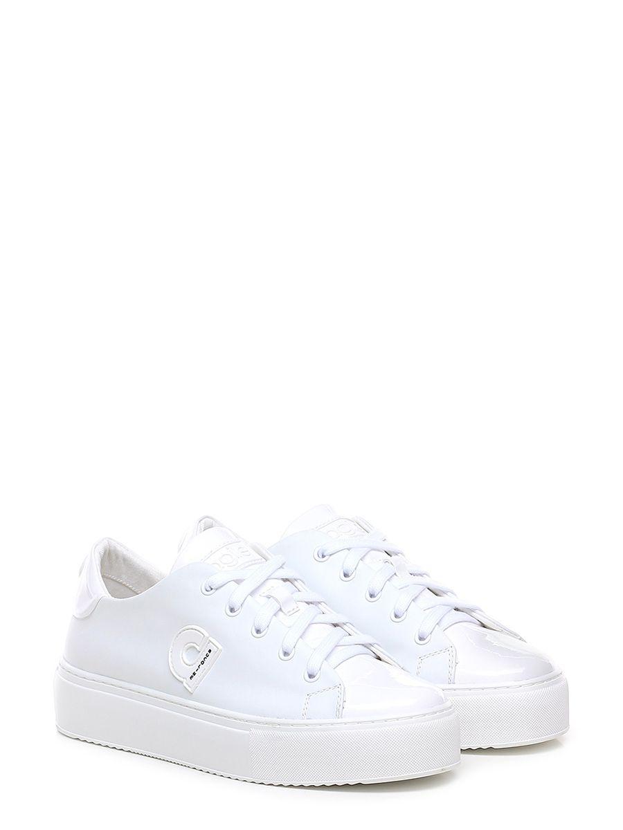b3674f9359 ... Le Follie Shop. Sneaker in pelle e vernice, suola in gomma.tacco 40,  platform 25 con
