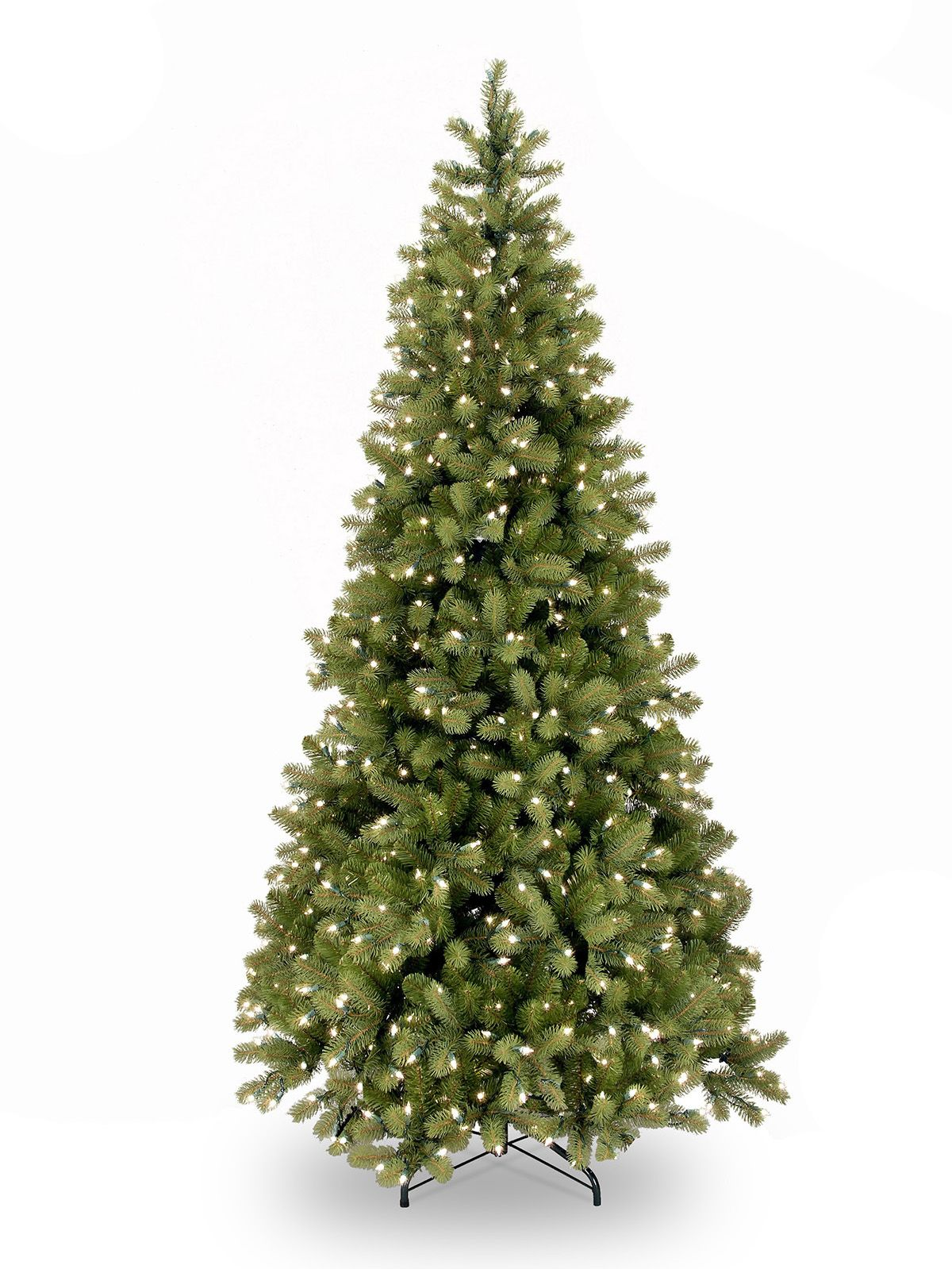 6.5ft Pre-lit Bayberry Spruce Slim Feel-Real Artificial ...