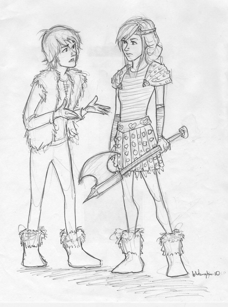 hiccup and astrid by burdge on deviantART