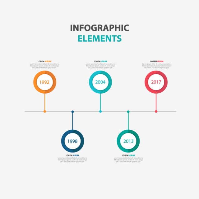 عناصر الرسوم البيانية الملونة مجردة صور المتجهات مع المواد Png Business Infographic Infographic Timeline Infographic Design
