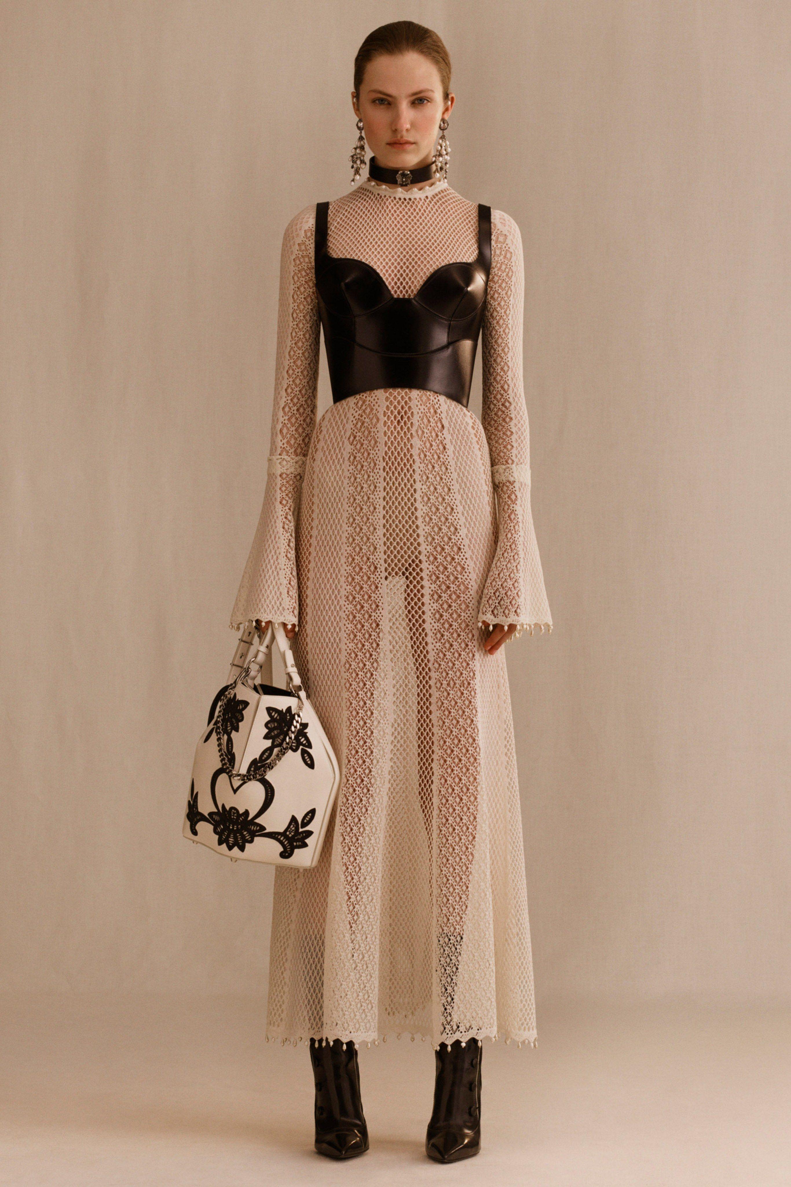 Clear lines in Alexander McQueen's Resort collection 2015
