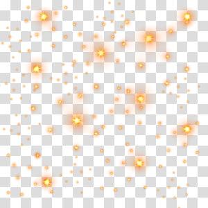 Light Star Motif Golden Light Stars Orange Sparkling Light Transparent Background Png Clipart Transparent Background Sparkling Lights Golden Lights