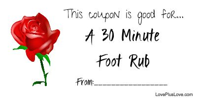 photo about Gfs Coupons Printable identified as A 30 Moment Foot Rub Totally free Printable Passionate Discount coupons