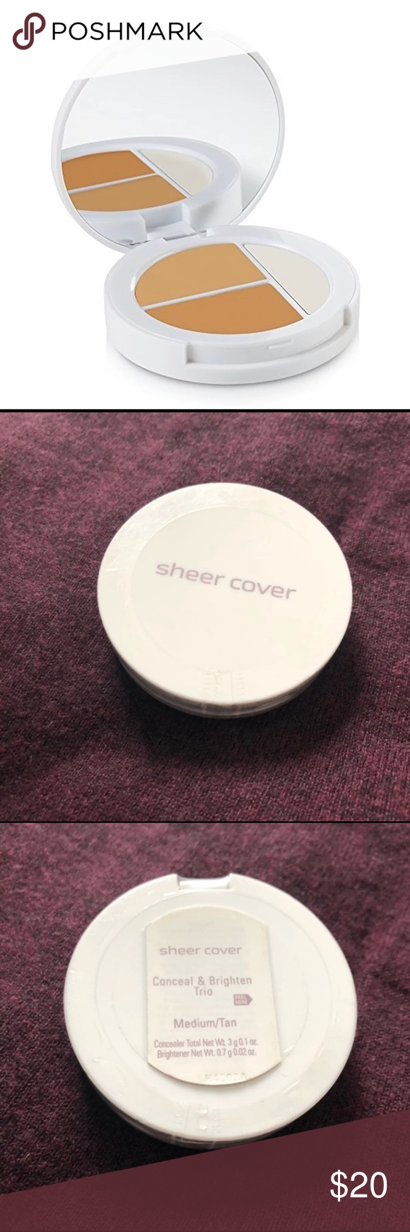 Sheer Cover Mineral Makeup Concealer new NWT Minerals