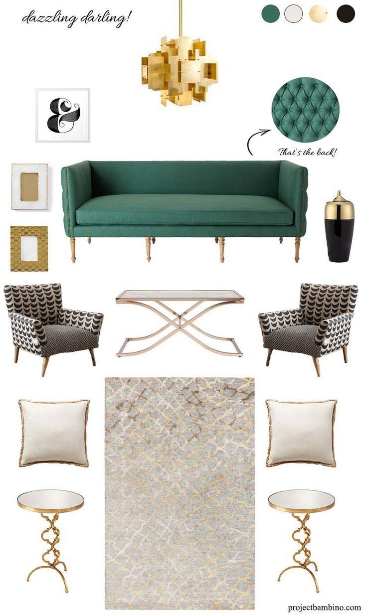 Home Decor Ideas Official Youtube Channel S Pinterest Acount Slide Home Video Home Design Emerald Green Living Room Gold Living Room Green Sofa Living Room
