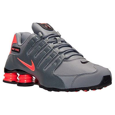 Nike Shox NZ Mens 378341-116 Anthracite Infrared Athletic Running Shoes  Size 7.5