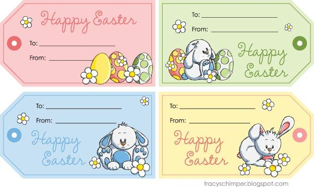 Free easter tag download easter ideas pinterest easter theano am mmy line on free easter tags free labels for your gifts negle Image collections
