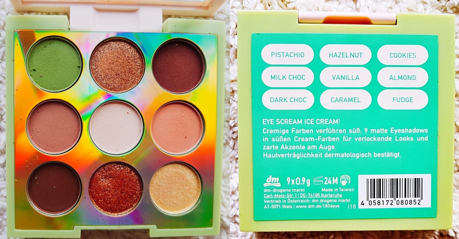 Cream Square Eyeshadow Palette