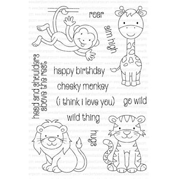 Clearly Besotted WILD THING Clear Stamp Set