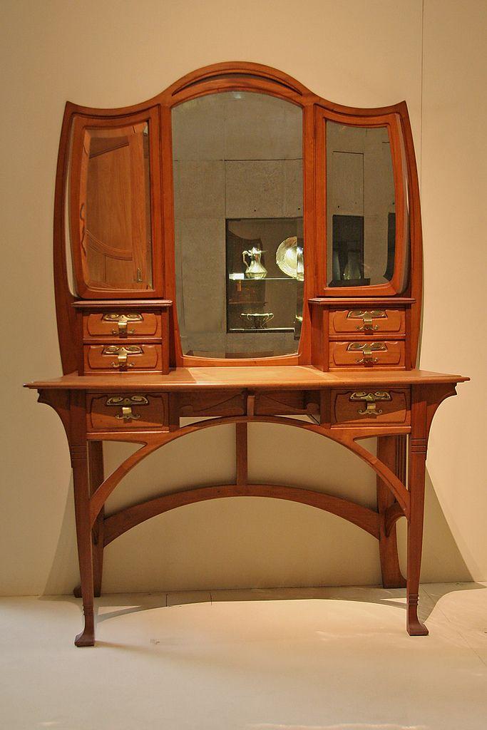 Art Nouveau dressing table | Espejo, Diseño de muebles y Consolas
