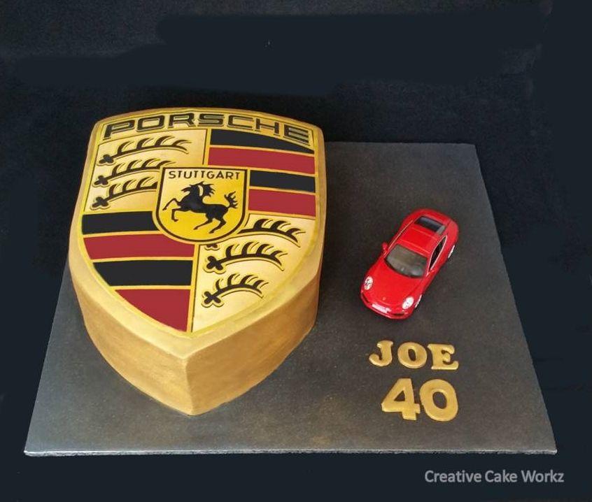 Porsche Logo Cake | JoNathan | Pinterest | Torten, Kuchen und ...