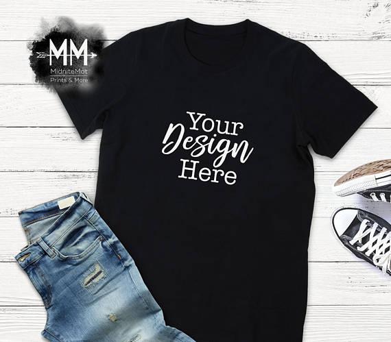 free flat lay t shirt mockup