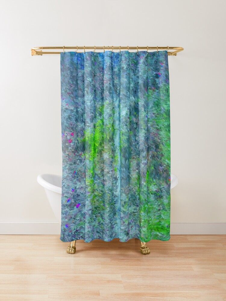 Blooms Between Rocks And Hard Places Shower Curtain Curtains