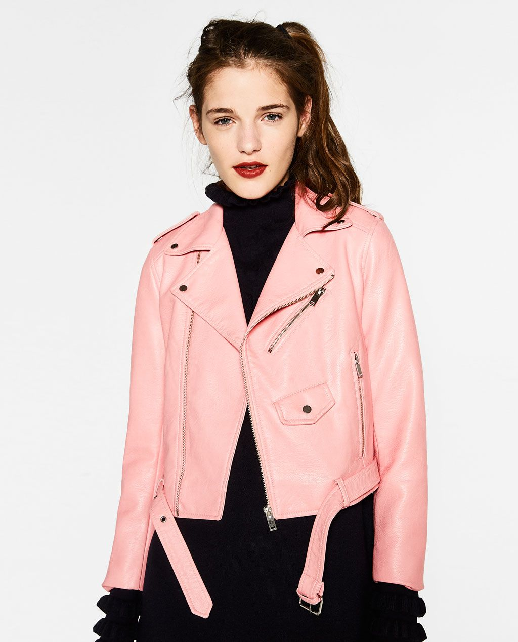 Image 2 of FAUX LEATHER JACKET from Zara | Moda | Pinterest ...