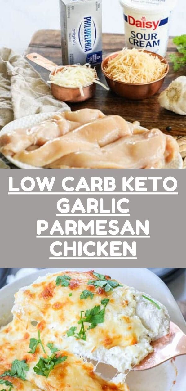 Low Carb Keto Garlic Parmesan Chicken