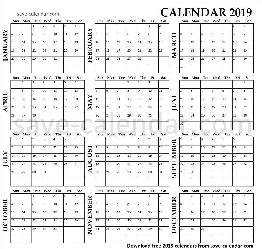 Print 2019 Calendar Online Yearly Calendar 2019 Calendar, 2019