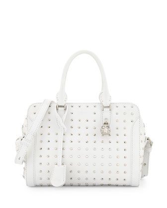White Studded Handbag | Luggage And Suitcases